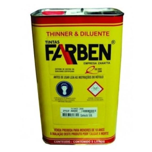 THINNER FARBEN 252.049 0.9L PARA  LIMPEZA