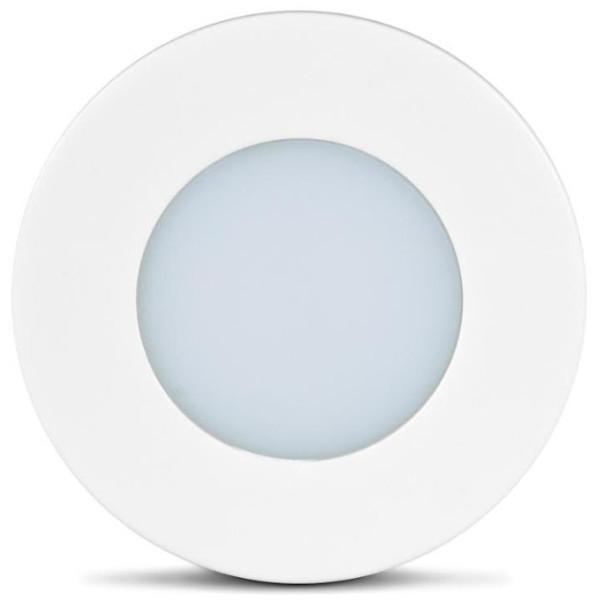 LUMINARIA LED BIVOLT BRANCA  LUZ QUENTE LED LINE PC30 BR